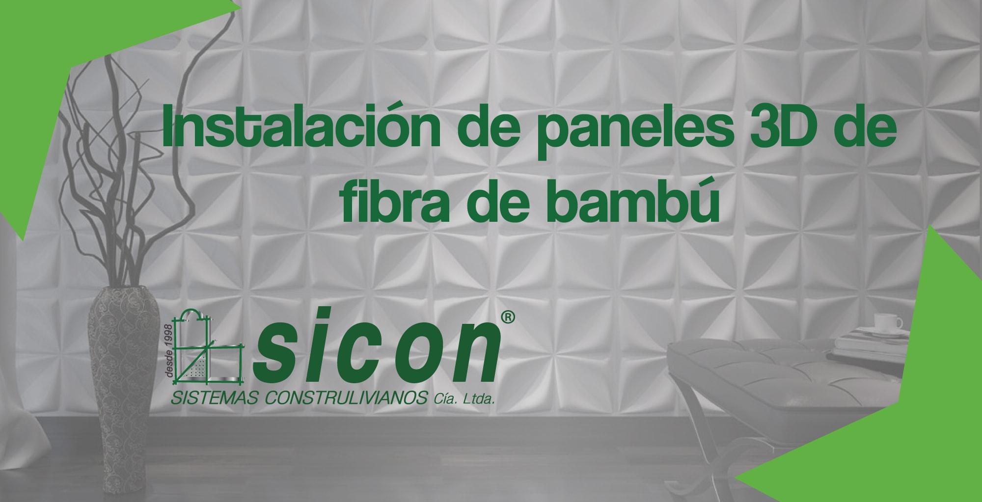 paneles fibra de bambú