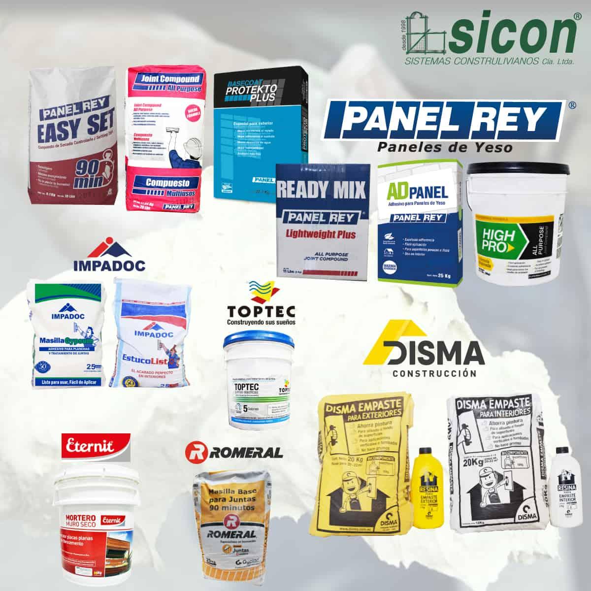 Productos Sicon Masillas y Empastes