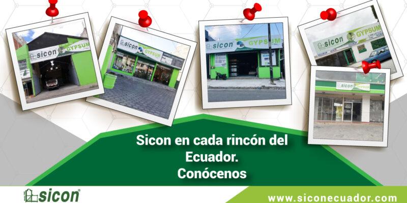 Sicon en cada rincón del Ecuador. Conócenos
