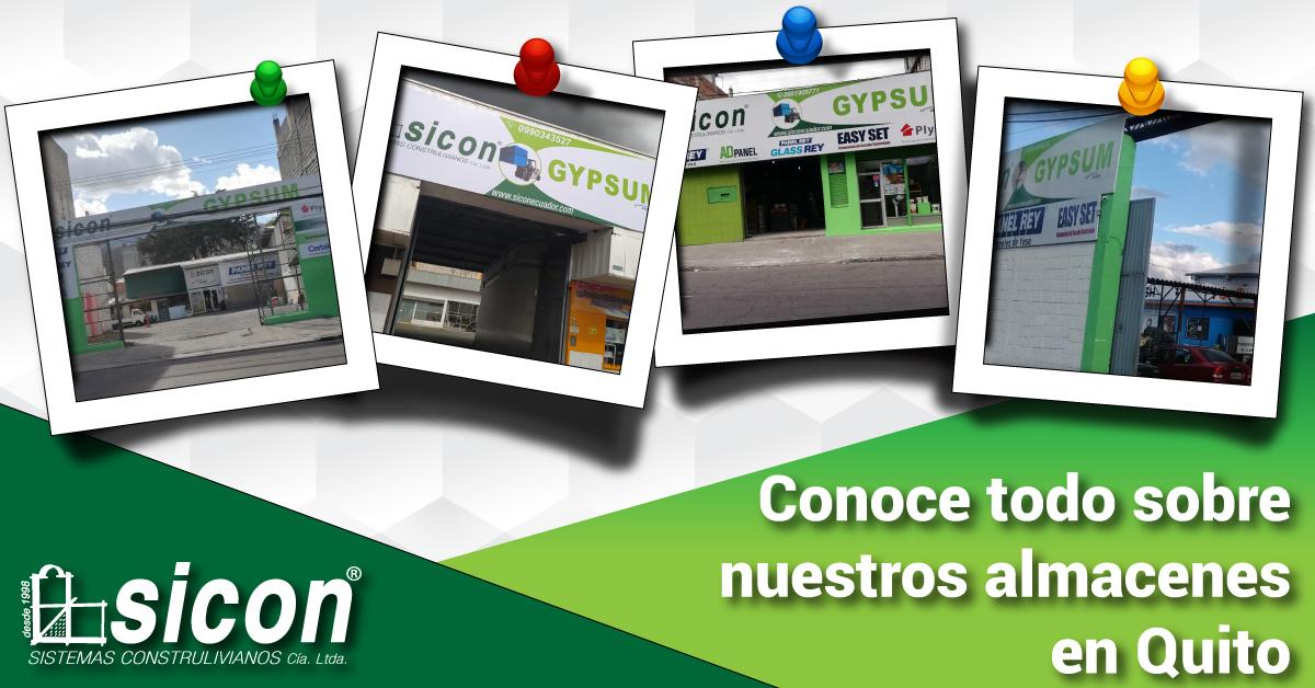 Nuestros Almacenes Sicon en Quito